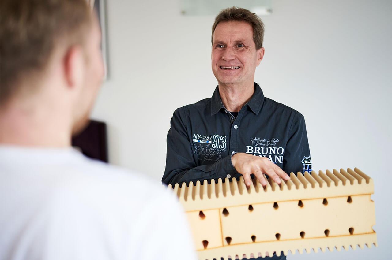 Bettenberater Bernd Becker, Foto: Mona Strieder